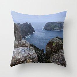 Tasman Island and the Blade Throw Pillow