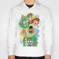 pixar Hoodies featuring Disney Pixar Play Parade - Toy Story Unit by Joey Noble