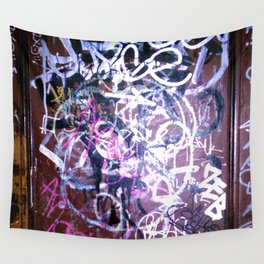 Bathroom Graffiti II Wall Tapestry