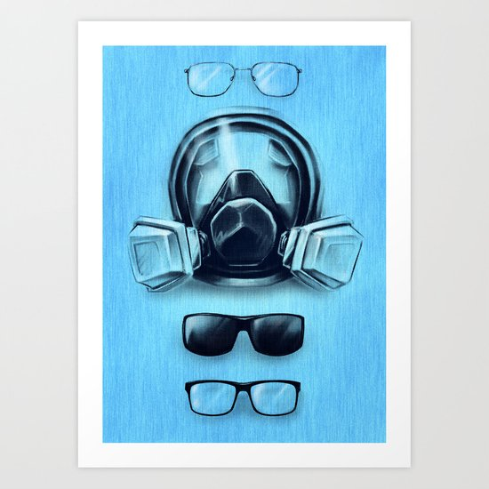 All I See Is Blue Art Print