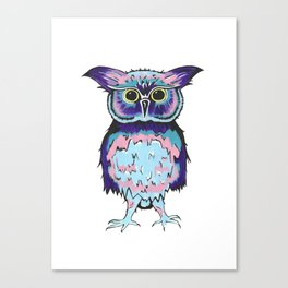 Small Scrappy Owl Canvas Print