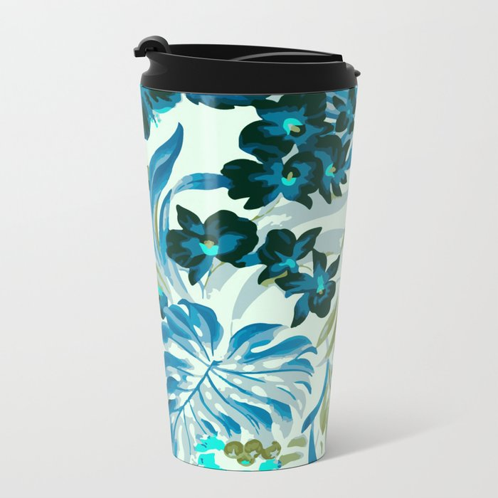 Jungle blush - fall Metal Travel Mug