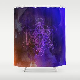 Message from Metatron Shower Curtain