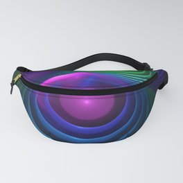 Beautiful Rainbow Marble Fractals in Hyperspace Fanny Pack