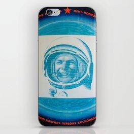 Russian Cosmonaut Poster iPhone Skin