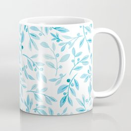 Leaves and Berries   Turquoise Palette Coffee Mug