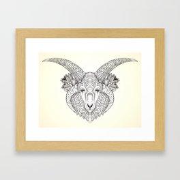 Churro Ram Framed Art Print