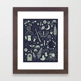 Fairy Garden: Midnight Framed Art Print