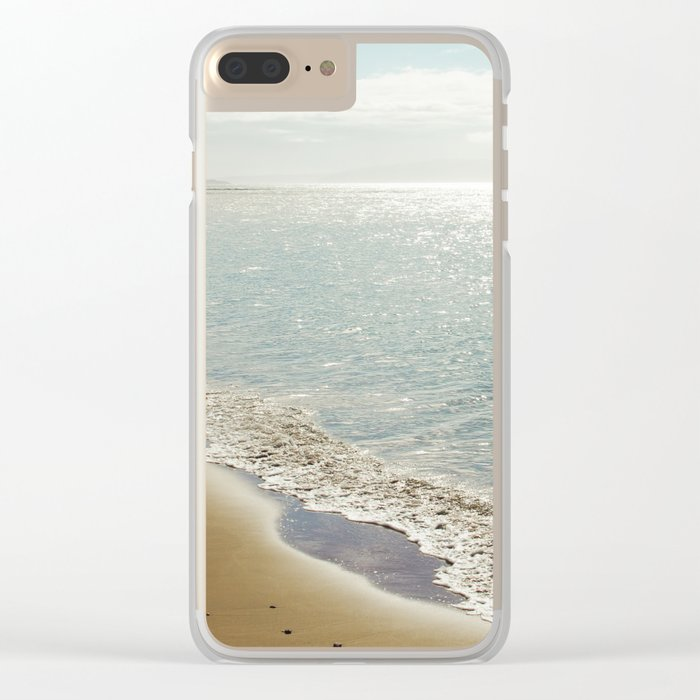 beauty and the beach Clear iPhone Case