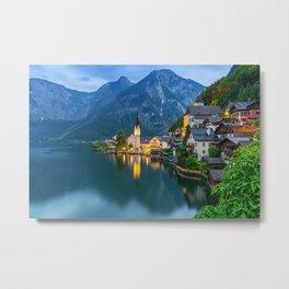 Hallstatt Village, Alps Metal Print