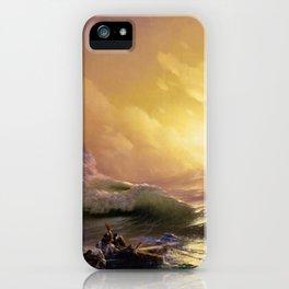 The Ninth Wave nautical sunset ocean storm landscape masterpiece by Ivan Aivazovsky iPhone Case
