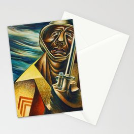 African-American 1944 Classical Masterpiece 'Black Soldier' by Charles White Stationery Cards