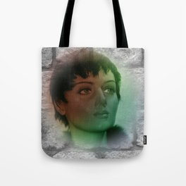 a picture on a wall Tote Bag