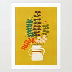 Potted Leaves Art Print