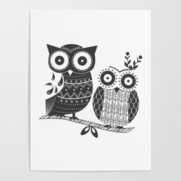 Boho Owl Poster