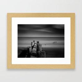 Old Pier Framed Art Print