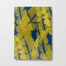 Carved Yellow&Blue Jungle #society6 #decor #buyart Metal Print