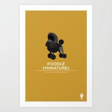 Miniature Poodle Art Print