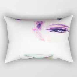 Do you remember... Glitch portrait Rectangular Pillow