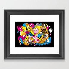 Crazy Bird Blob Framed Art Print