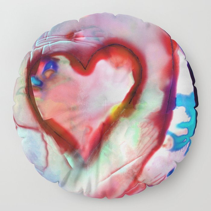 Heart Dreams 4H by Kathy Morton Stanion Floor Pillow