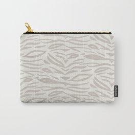 Zebra Stripes - Gray on Cream Carry-All Pouch