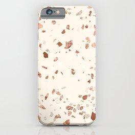 Rose Gold and Cream Terrazzo iPhone Case