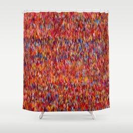 Maximalist Textile Pattern Shower Curtain