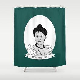 Princess Sophia Duleep Singh Illustrated Portrait Shower Curtain