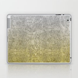 Silver and Gold Glitter Gradient Laptop & iPad Skin