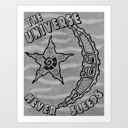 Sleepy Universe Art Print