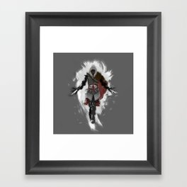 Assasins Grey Framed Art Print