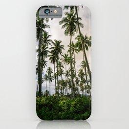 Palm Trees Kauai Hawaii Printable Wall Art   Tropical Beach Nature Ocean Coastal Travel Photography Print iPhone Case
