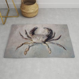 Vintage Crab Painting Rug