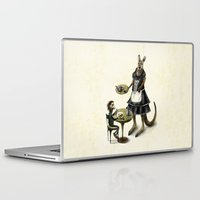 kangaroo Laptop & iPad Skins featuring Kangaroo cafe by Anna Shell