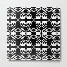 Saber Skulls Metal Print