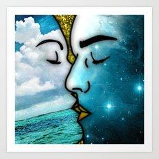 Lover's Kiss Art Print