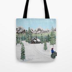 Christmas on the mountain Tote Bag