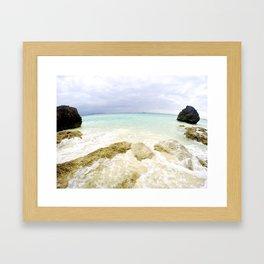 Boracay Rocks by the Beach Framed Art Print