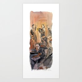 The Inattentive Audience Art Print