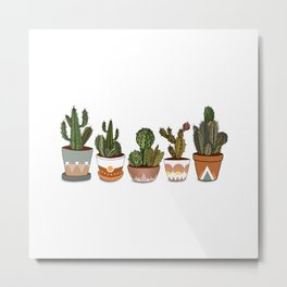 Potted Cacti Metal Print