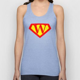 Letter W Power Sign Unisex Tank Top
