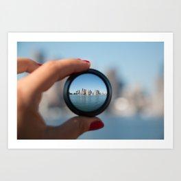Boston in a Lens Art Print