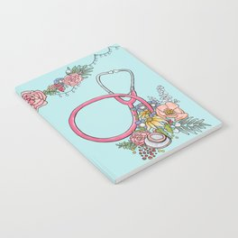 Floral Stethoscope Notebook