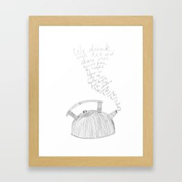 kettle mornings Framed Art Print