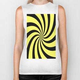 Spiral (Black & Yellow Pattern) Biker Tank