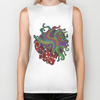 psychedelic Biker Tanks featuring Psychedelic   by Malsano