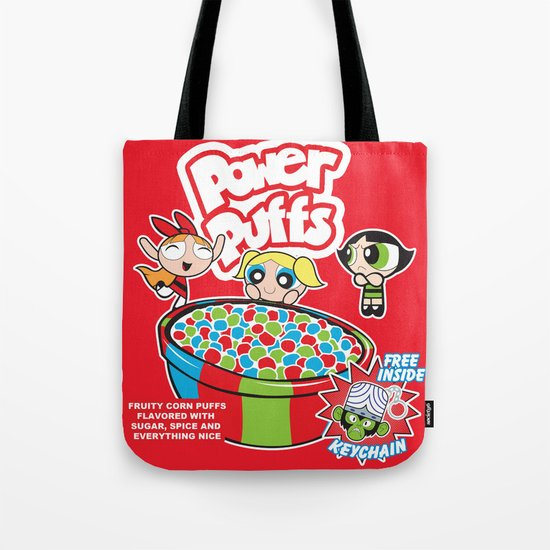 Power Puffs Cereal Tote Bag
