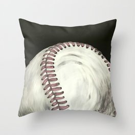 Vintage Baseball Art Throw Pillow