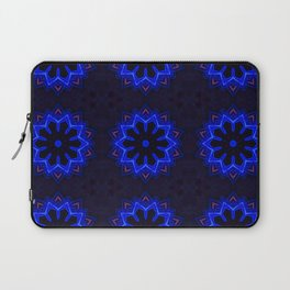Circular futuristic abstract shapes of blue and gold colors. Images from outside this world. Laptop Sleeve
